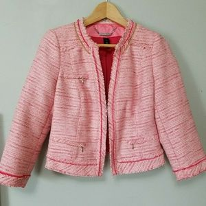 White house Black marcket pink tweed jacket